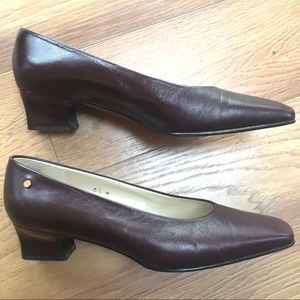 Etienne Aigner Burgundy Pumps